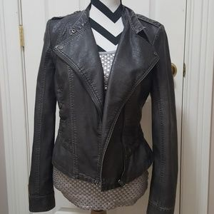 Maurices Faux leather jacket.  Really cute